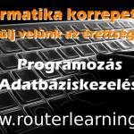 Programozás, adatbáziskezelés