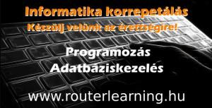 Informatika korrepetálás (programozás, adatbáziskezelés)
